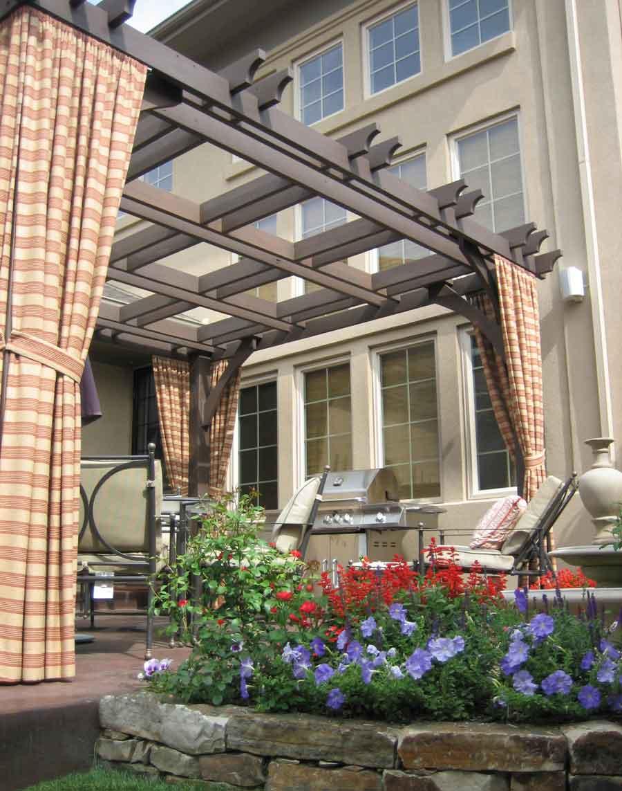 Lowery Design Portfolio Of Stonegate Gardens Of Denver, Colorado Holz Pergola Vorhangen Ideen Garten