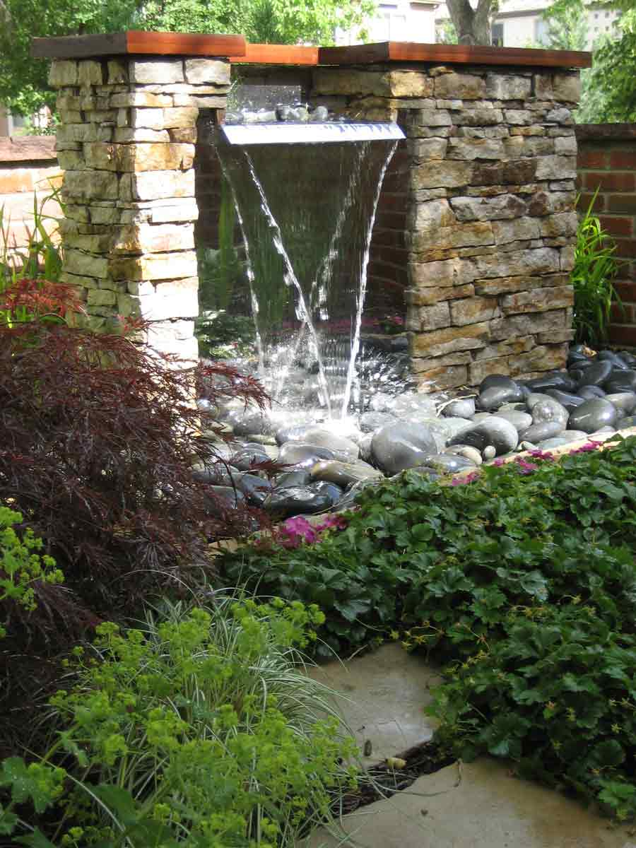 Modern Waterfall Feature